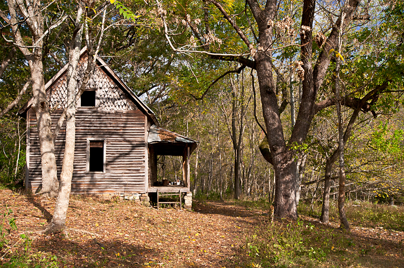 Granny Henderson's historic cabin near Jim Bluff