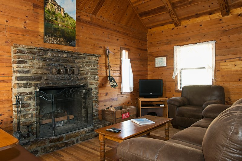 The comfy living area of Cabin 2