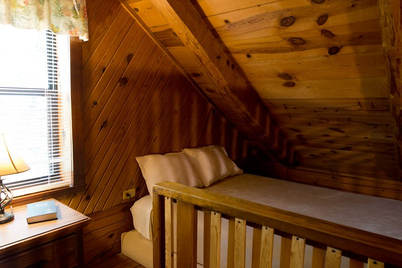 The loft features 2 full-size beds.