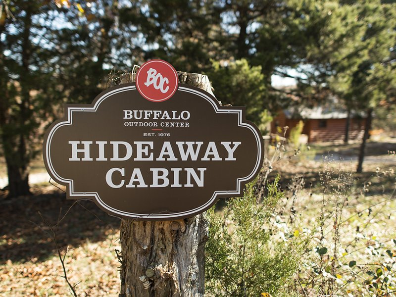 Here's the sign of your Buffalo River country hideaway!