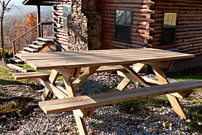 Have an outdoor picnic with a big view of Buffalo River country